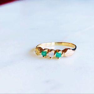 Jewelry - 10K Black Hills Gold Diamond Emerald Ring